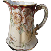 Lovely Hand Painted Nippon Roses Porcelain Milk Pitcher