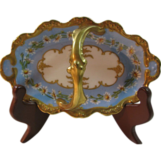 Dainty Hand Painted Blakeman & Henderson Limoges Basket/Candy Dish