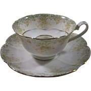 Shelley Mustache/Moustache Cup and Saucer