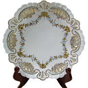 Hand Painted Limoges Jewelled Plate Artist Initialed