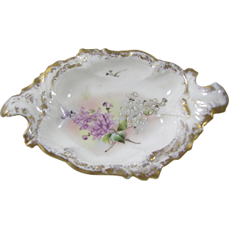 T.V. Limoges Hand Painted Miniature Tray
