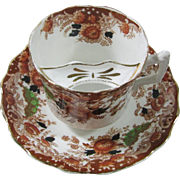 Copeland Imari Mustache/Moustache Cup and Saucer