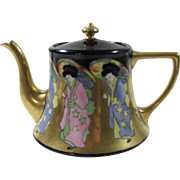 William Guerin & Co. Limoges Metallic Design Teapot.