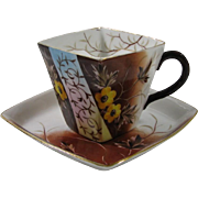 Rare Depon Germany Hand Painted Mustache/Moustache Cup and Saucer