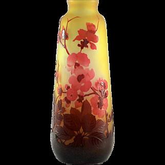 "Gallé ""Fleurs de Cerisier"" Cameo Vase"