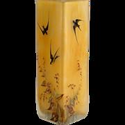 Schneider Japonisant Enameled Vase