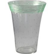 Steuben Threaded Vase