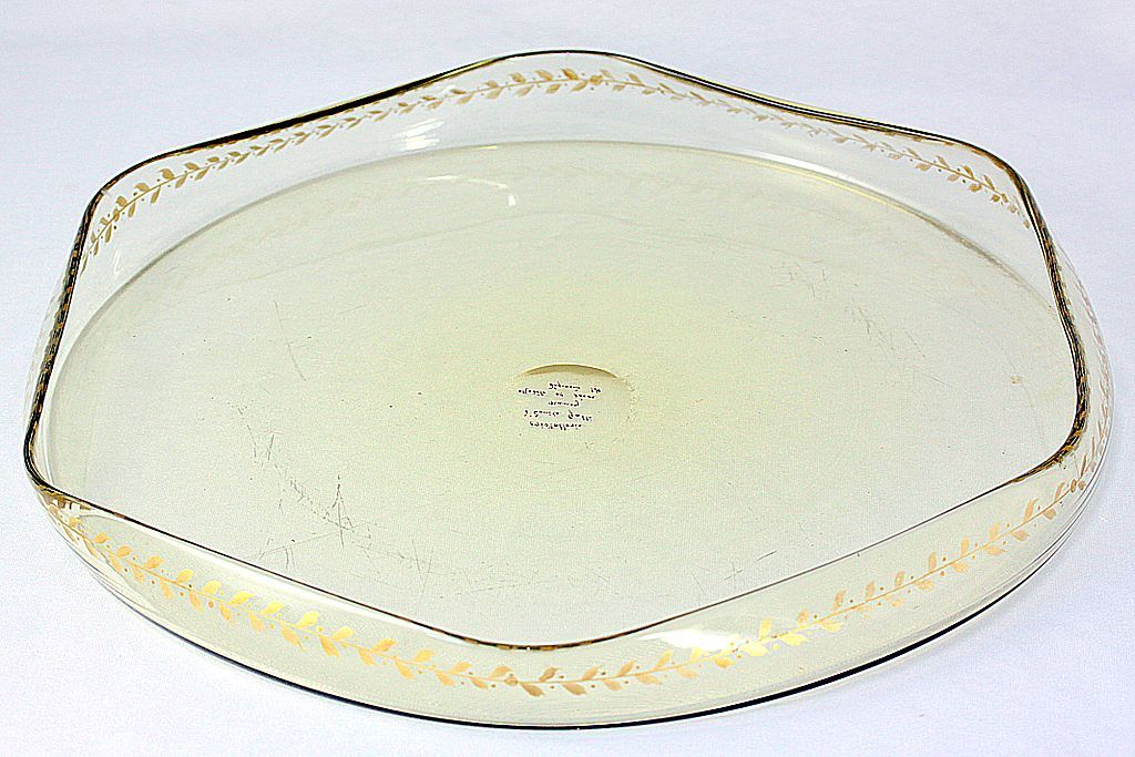 Emile Gallé Gold Gilt Table Tray