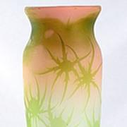 "Emile Gallé ""Chardons"" Cameo Vase"