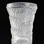 "Lalique ""Psyche"" Crystal Bud Vase"