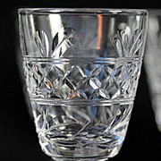 "Stuart ""Imperial"" Pattern Crystal Cordials with Ball Stems"