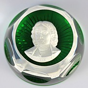 Baccarat Sulphide Paperweight Depicting Peter the Great