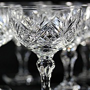 Thomas Webb Square Base Champagne Coupes