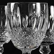 "Waterford ""Colleen"" Pattern Crystal Goblets"