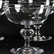 Steuben 7925 Pattern Crystal Champagne Coupes