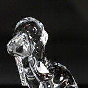Daum Crystal Figurine of a Hound