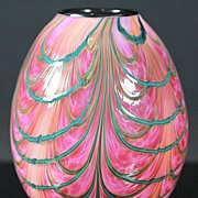 Jeremiah Lotton Swag Pulled Pattern Vase