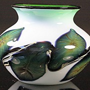 Jeremiah Lotton Cased Glass Vase