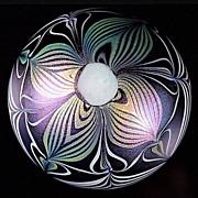 Vandermark Iridescent Pulled Pattern Paperweight