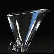 """Steuben """"Cornucopia"""" Vase by Donald Pollard"""