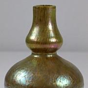 Loetz Double Baluster Oil Spot and Crackle Pattern Vase