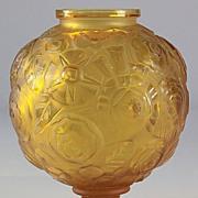 """Sabino Amber """"Floral"""" Pattern Vase"""