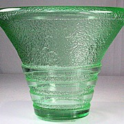 Daum Nancy Green Acid Etched Vase