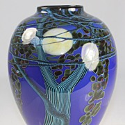 Blue Harvest Moon Vase by Richard Satava