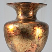 Glass Vase with Applied Foil Decoration by Il Gualduccio