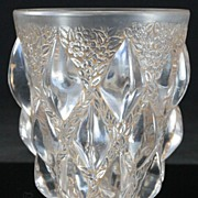 "René Lalique ""Rampillon"" Vase with Sepia Wash"