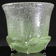 Massive Bubble Glass Vase by Schneider
