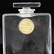 """Ren"""" Lalique Ambre d'Orsay Perfume Bottle"""