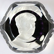 Baccarat Limited Edition Sulphide Paperweight of Eleanor Roosevelt