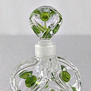 "Lalique ""Floride"" Pattern Perfume Bottle"