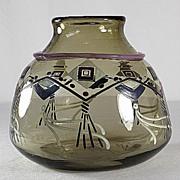 Schneider Rare Enameled Vase