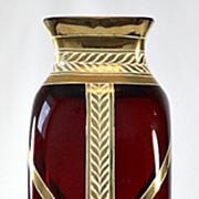 "Josef Riedel ""Granat"" Vase"