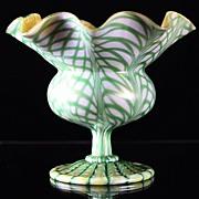 Quezal Floriform Vase