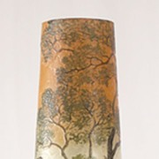 Legras Acid Etched and Enameled Cameo Vase