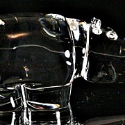 Steuben Crystal Hippopotamus by George Thompson