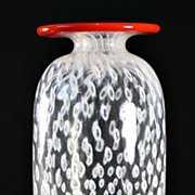 Kosta Boda Controlled Bubble Inclusion Vase by Bertil Vallien