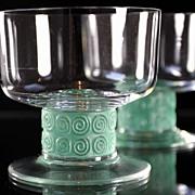 "René Lalique ""Chinon"" Pattern Champagne Coupes"