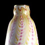 Charles Lotton White Pulled Pattern Vase