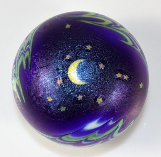 "Lundberg Studios ""Night Sky"" Paperweight by Daniel Salazar"