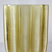 Barbini Amber Striped Vase