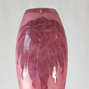 """Le Verre Francais """"Dahlias""""  Pattern Cameo Vase by Schneider"""