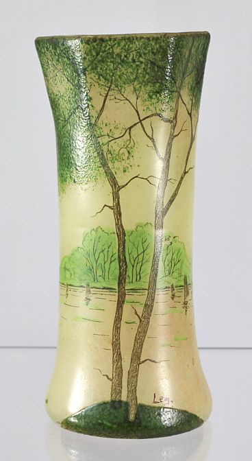 Legras Painted and Enameled Vase