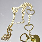 "Lalique Yellow ""Coeur Love"" Necklace"