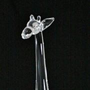 Steuben Crystal Giraffe by Lloyd Atkins
