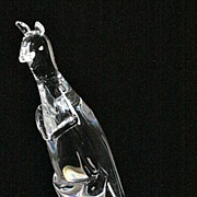 Steuben Crystal Kangaroo Figurine