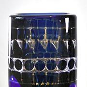 Orrefors Geometric Ariel Vase by Ingeborg Lundin